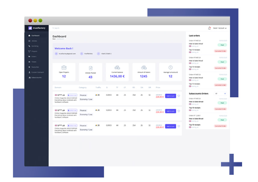 trustfactory software overview
