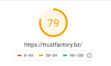 Trustfactory Ladezeit