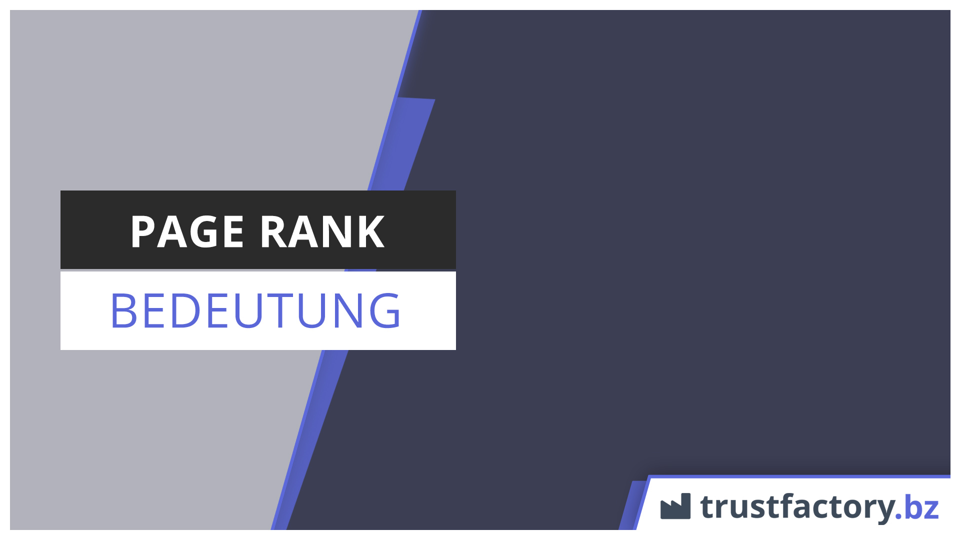 page rank bedeutung