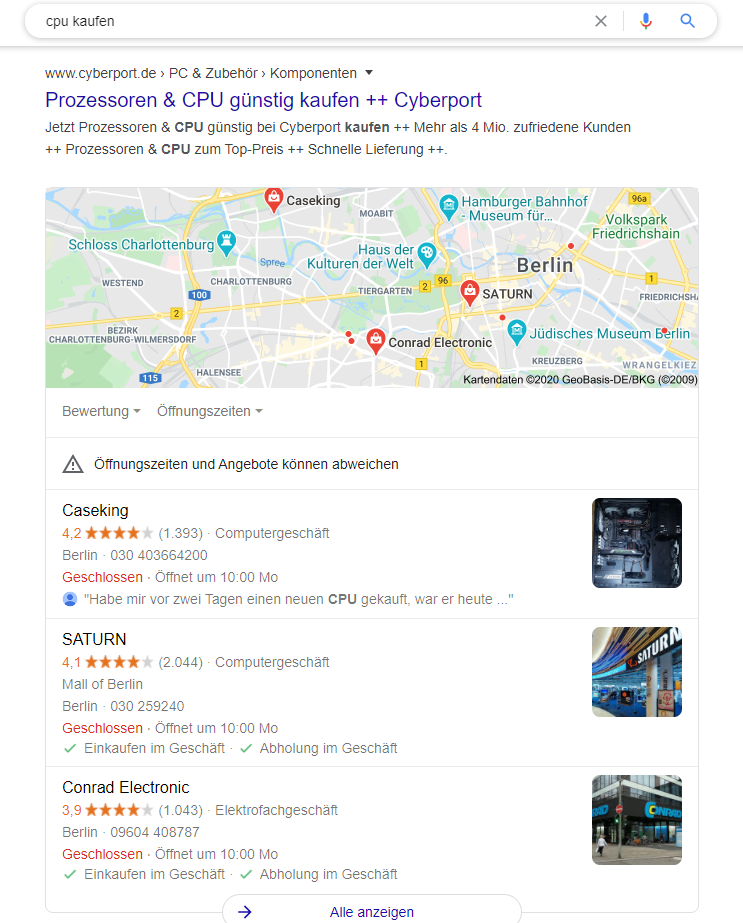 CPU Kaufen Google Maps